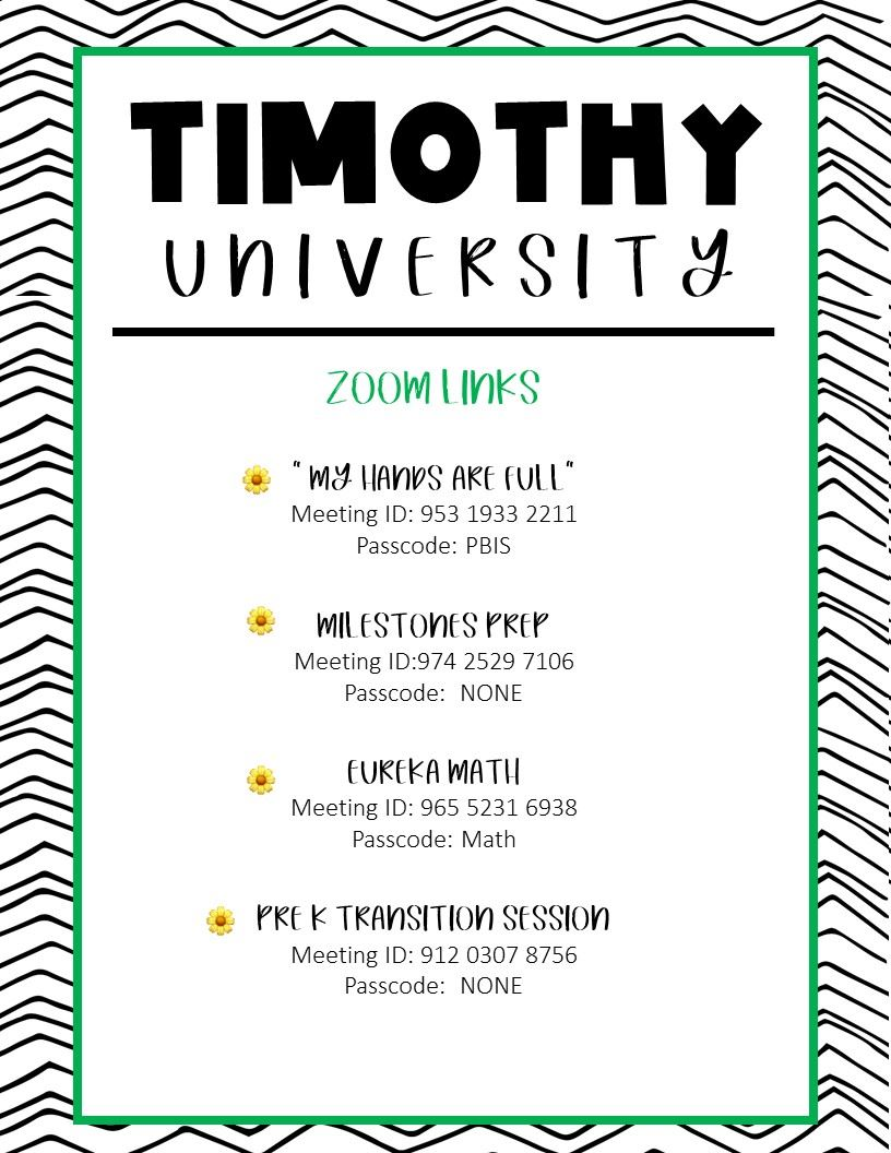 Timothy University Links