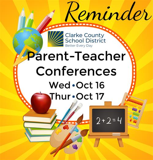 Parent-Teacher Conferences - Oct 16 & 17