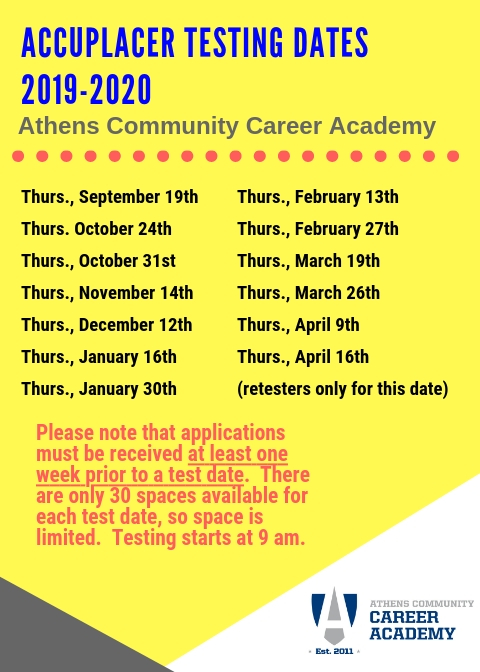 Application Information / APPLY TO ATHENS COMMUNITY CAREER